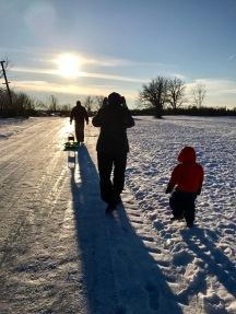 Winter walk with Grandma and Poppa